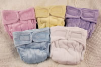 5 colors of Plumpie Rumpie diapers