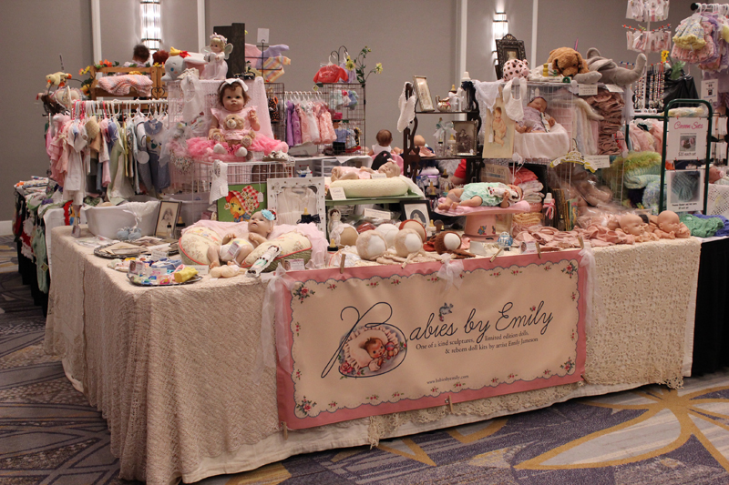 Doll show display table